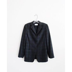 Cantarelli Grey Blue Windowpane Check Blazer est 6